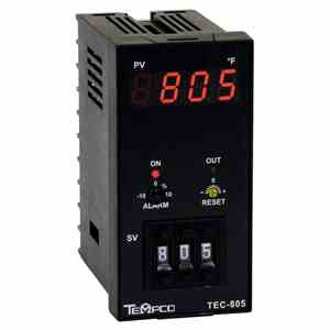 Tempco MODEL TEC-805 TEMPERATURE CONTROLLER